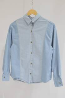 Camisa de jean bicolor -