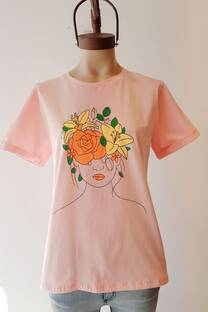 REMERA MUJER FLOR  -