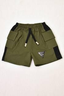 shorts de bengalina con bolsillo nautico línea bebé -