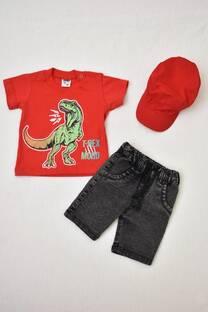 Promo pack bebé bermuda de gabardina + remera manga corta línea premiun+ gorro  -