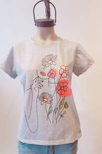 REMERA MUJER FLOR