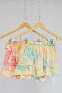 Short batik c/volado -