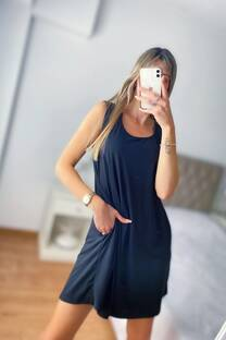 Vestido -Basic- -Modal con viscosa- -