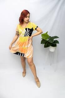 Vestido Estampado Horizontal Talles -