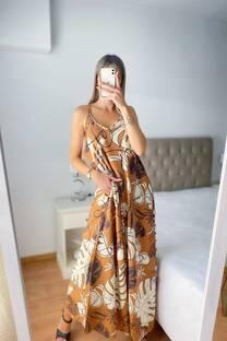 Vestido -Maxi Fibrana-