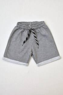 shorts de algodón rústico varón