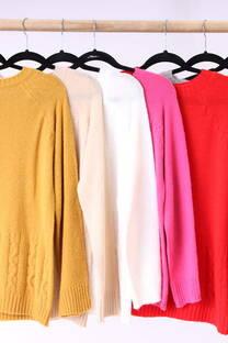 Sweater con detalles en los extremos  -