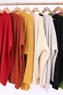 Sweater largo abierto  -