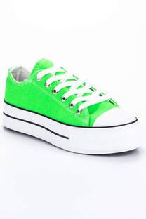 Zapatilla Classic Lona Verde Fluor -