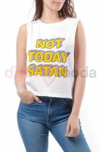 Musculosa Corta Not Today Satan -