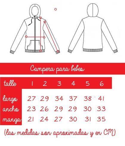 Imagen carrousel Campera nena jean elast s cintura 1