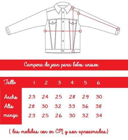 Imagen carrousel Campera nena jean elast s cintura 2