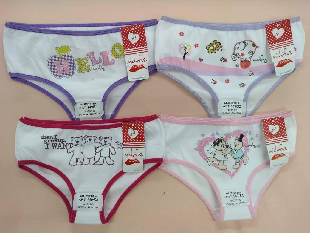 Imagen producto Culotte niña pack por 12  4