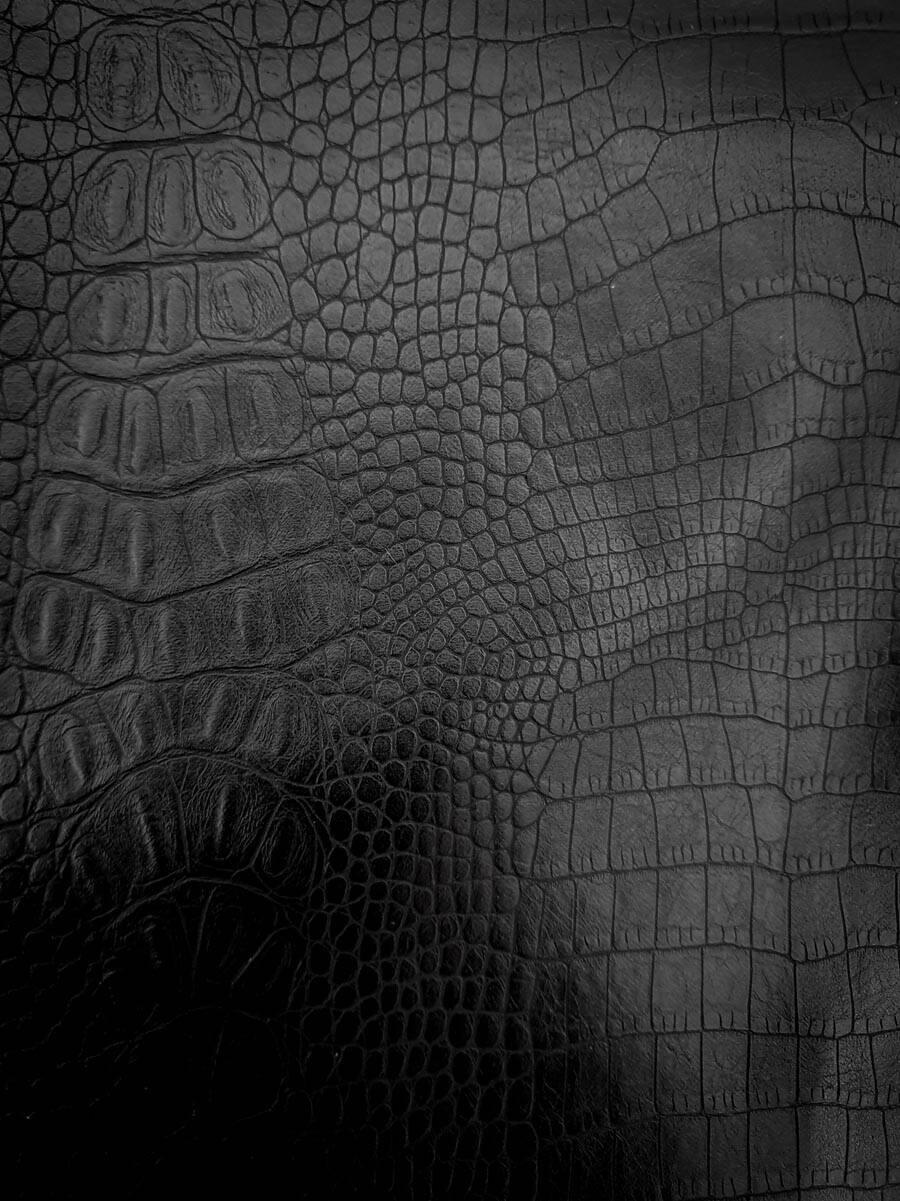 Imagen carrousel campera simil cuero cocodrilo 3