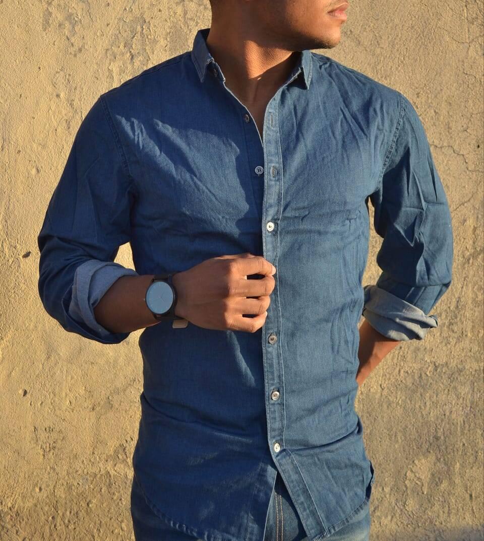 Imagen producto Camisa de Jean Elastizada 7