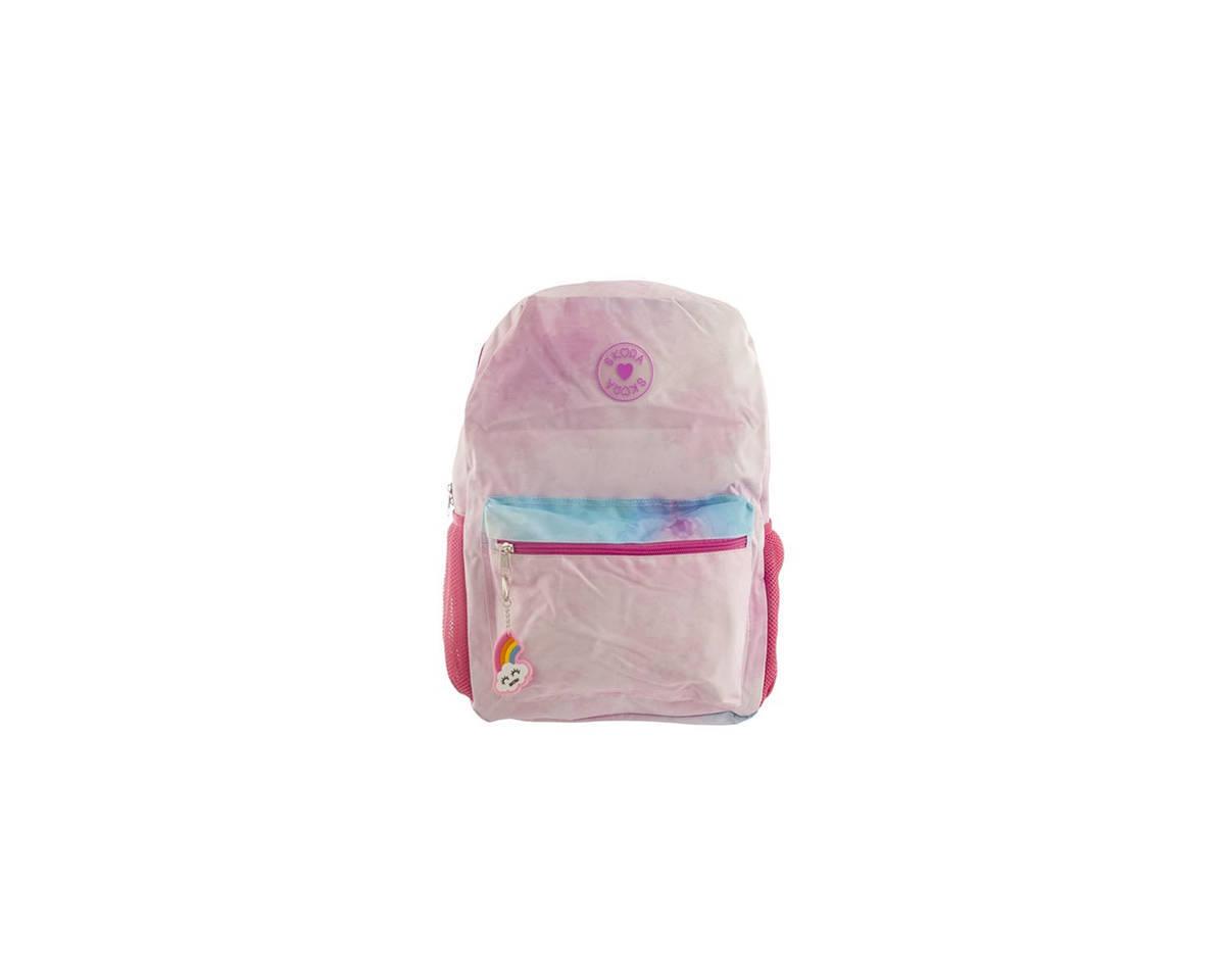Imagen producto Mochila escolar de tela en degrade. Posee bolsillo frontal y laterales.  Medidas: 40 cm x 30 cm 0