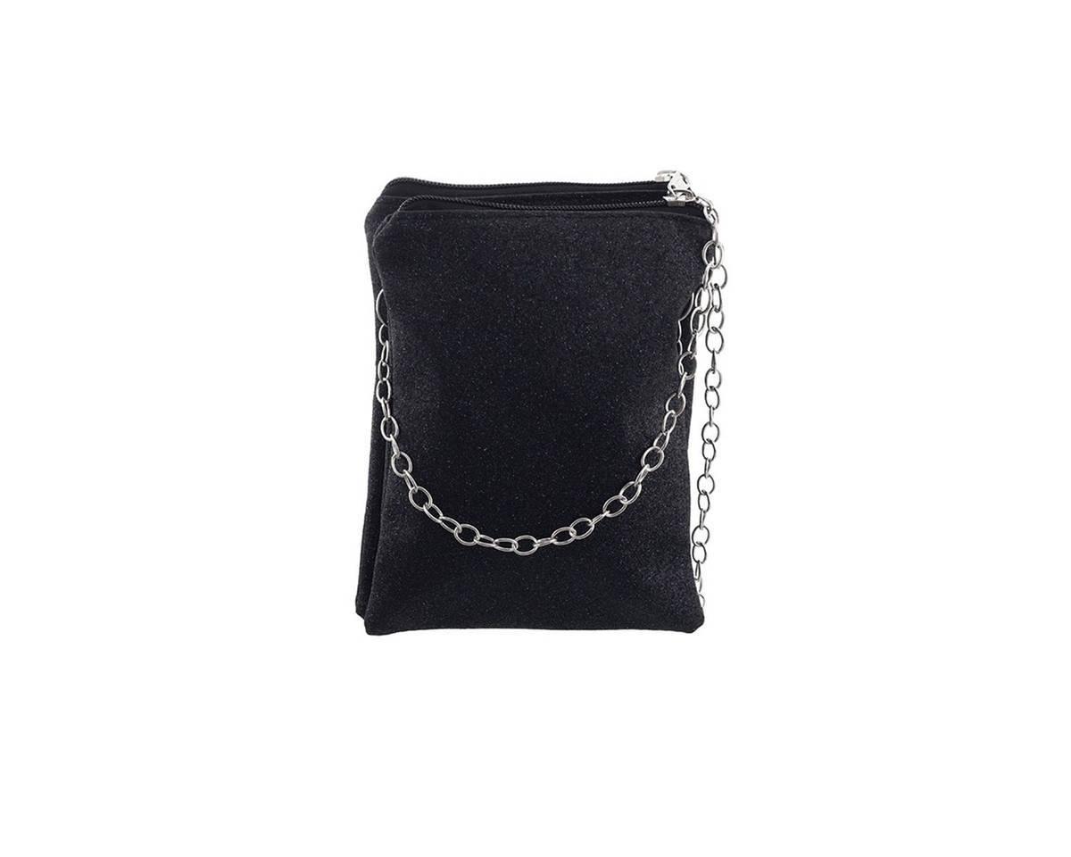 Imagen producto Bandolera doble de glitter con cadena.  Medidas: 20 cm x 15 cm 0