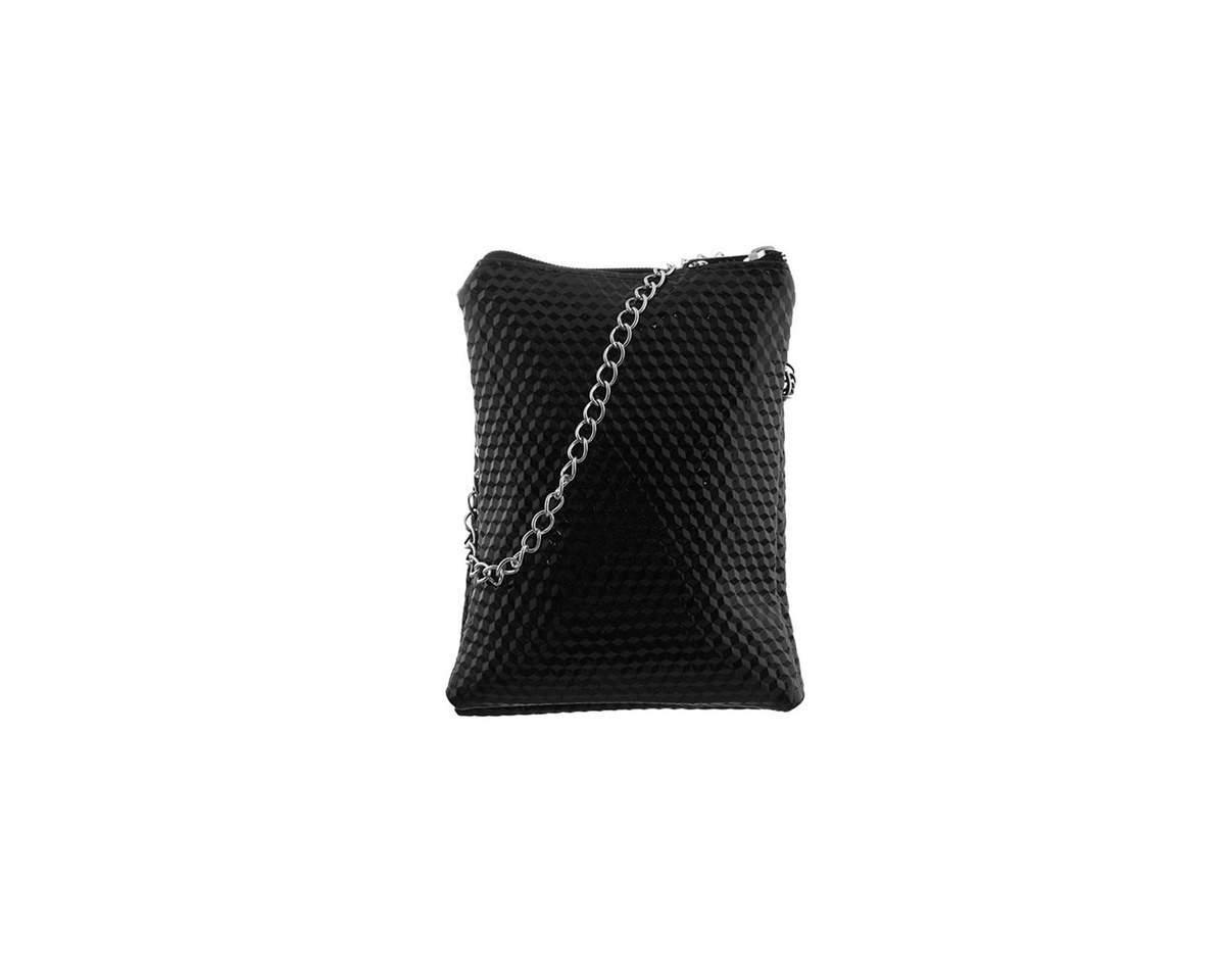 Imagen producto Bandolera texturada doble de charol con tira de cadena-  Medidas: 20 cm x 13 cm 0