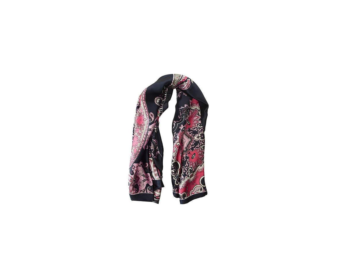 Imagen producto Pañuelo dama de seda cuadrado con estampado de mandala.  Medidas: 90 cm x 90 cm 3