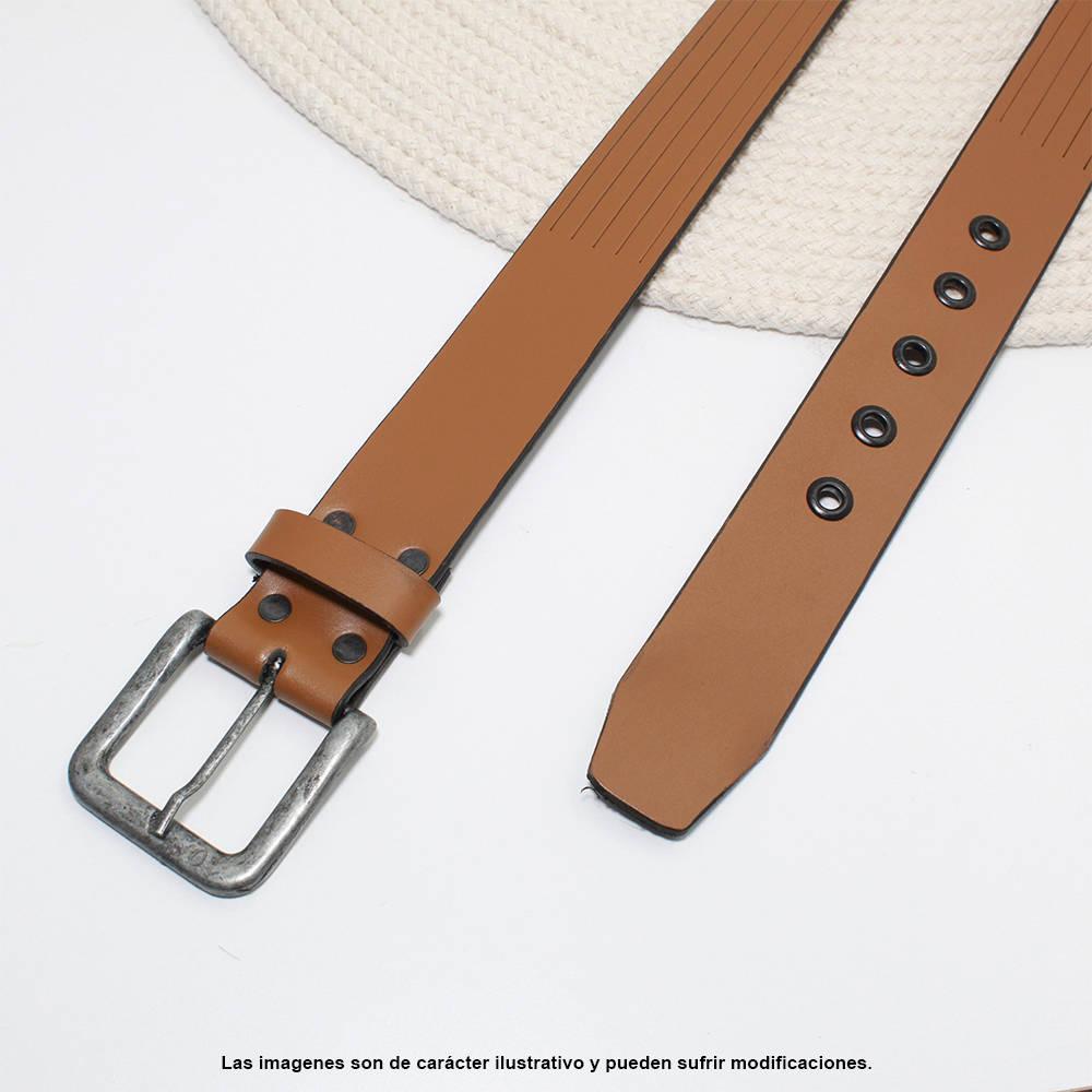 Imagen producto Cinto de cuero modelo masculino, talles del 95 al 115. 0