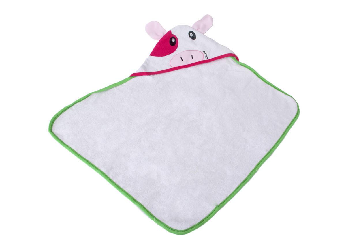 Imagen producto Toalla con bordado  cara de vaca y orejas sueltas 0