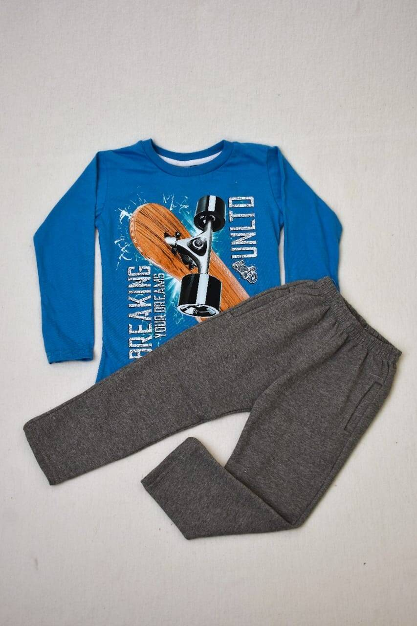 Imagen carrousel PACK por remera manga larga línea premium +pantalon de algodón con frisa 1