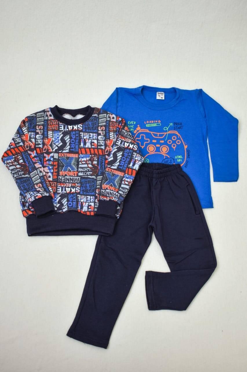 Imagen producto Promo pack buzo de friza + remera manga larga+ pantalón de friza  1