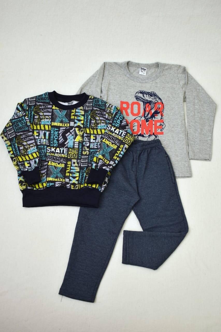 Imagen carrousel Promo pack buzo de friza + remera manga larga+ pantalón de friza  2